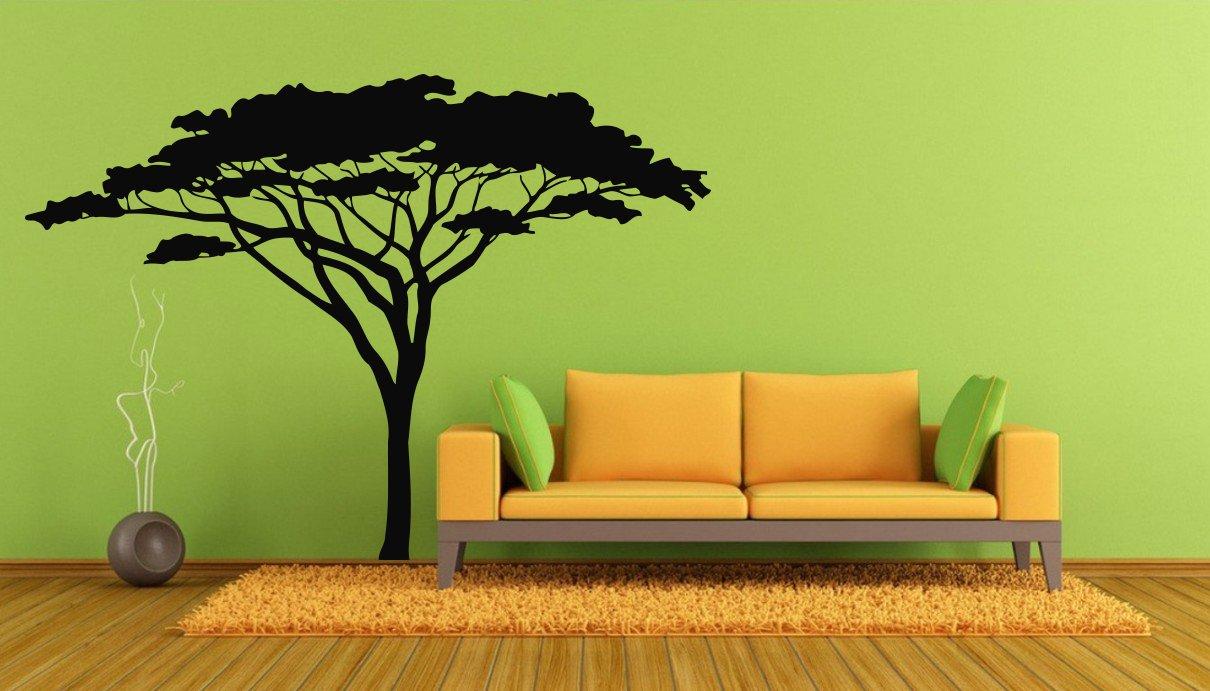アウトレットセール 特集 Wall Decals Decor Vinyl メーカー公式ショップ Savannah Africa Safari Tree Leave Nature