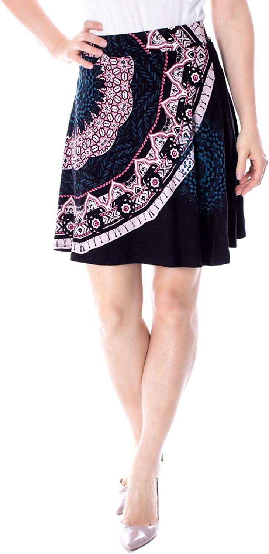Desigual Women's 19SWFK05BLACK Black Viscose Skirt