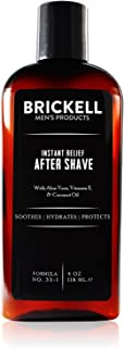Brickell Men's Instant Relief Aftershave for Men - 4 oz - Natural & Organic - Unscented