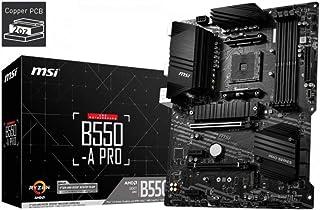 MSI B550-A PRO ProSeries Motherboard, AMD AM4, DDR4, PCIe 4.0, SATA 6Gb/s, M.2, USB 3.2 Gen 2, HDMI/DP, ATX, 911-7C56-08S