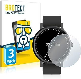 BROTECT Glas Screenprotector compatibel met Horloges (Rond, Diameter: 35 mm) (3 Stuks) - Beschermglas met 9H hardheid