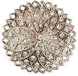 styleBREAKER Magnet Schmuck Anhänger Strass besetzt im runden Stern Design für Schals, Tücher oder Ponchos, Brosche, Damen 05050035, Farbe:Rosegold