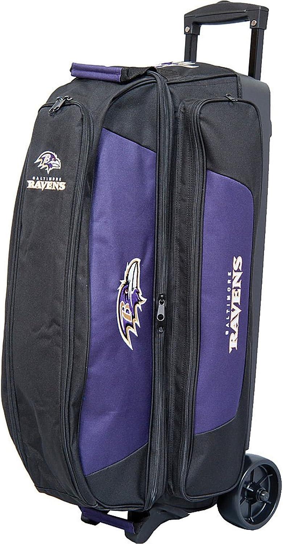 KR Strikeforce Baltimore Ravens Triple Roller Bowling Bag, Multicolor
