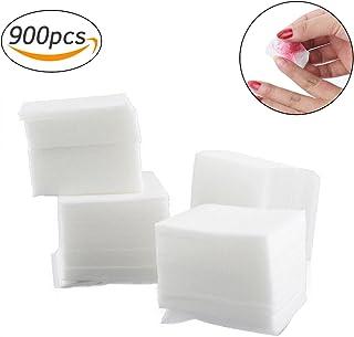 ネイルワイプ コットンワイプ 未硬化ジェルの拭き取り ネイル用品のクリーニング 900枚入り (ホワイト)