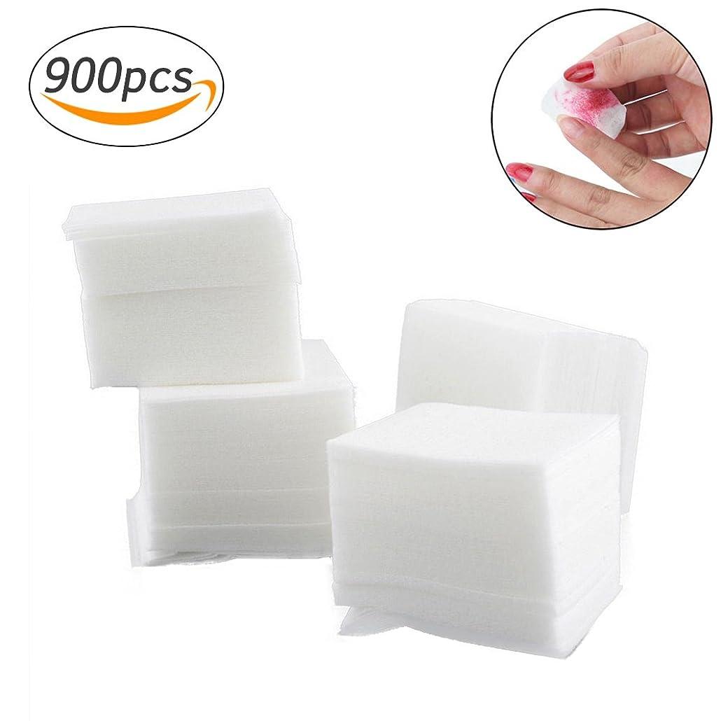 ペイント男性排泄するネイルワイプ コットンワイプ 未硬化ジェルの拭き取り ネイル用品のクリーニング 900枚入り (ホワイト)
