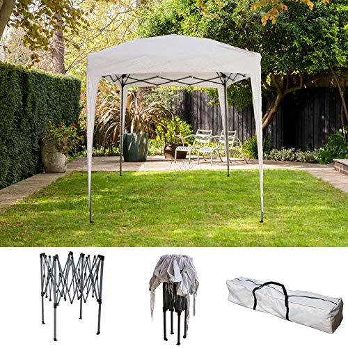 BIRCHTREE Gazebo Pop Up No Sidewalls Waterproof Marquee Canopy Outdoor Garden Wedding Party Tent 2Mx2M BT-PUG05 With Anchor Kits White