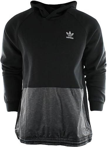Adidas Originals Hommes's Outerwear Sport Luxe Mixed Fabric sweat à capuche, noir, Medium