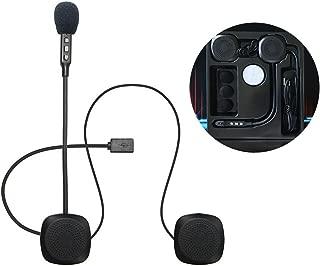 Negro BIYI Micr/ófono Altavoz Auricular V4 V6 Interphone Universal Headset Casco Intercomunicador Clip para Dispositivo de Motocicleta