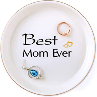 Mom Gifts Birthday Gifts for Mom Mother in Law Wife from Daughter Son, Remember I Love You Mom Handmade Ceramic Jewelry Tray Ring Trinket Dish Home Decor, Thanksgiving Christmas Mother Day Valentine