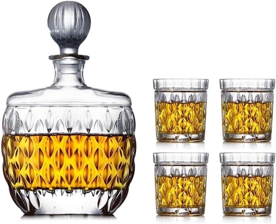 Time sale Whiskey Decanter Set Long-awaited for Men 1 Glasses Pcs Whisky 5