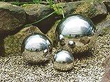Spetebo Deko-Kugel aus hochwertigem Edelstahl - 3er Set - Edelstahlkugeln