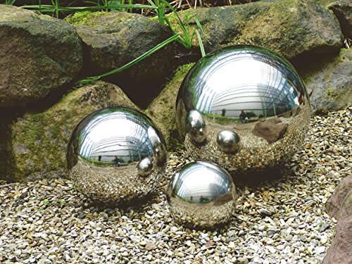 Spetebo Deko-Kugel aus hochwertigem Edelstahl - 28 cm - Edelstahlkugeln