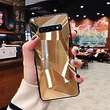 URFEDA Compatibel met Samsung Galaxy S10 Plus telefoonhoes Diamond Glitter Case met spiegeleffect Bling TPU Siliconen + Du...