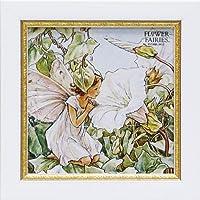 ユーパワー アートフレーム/植物・花 ホワイトバインドウィードフェアリー W18xH18cm