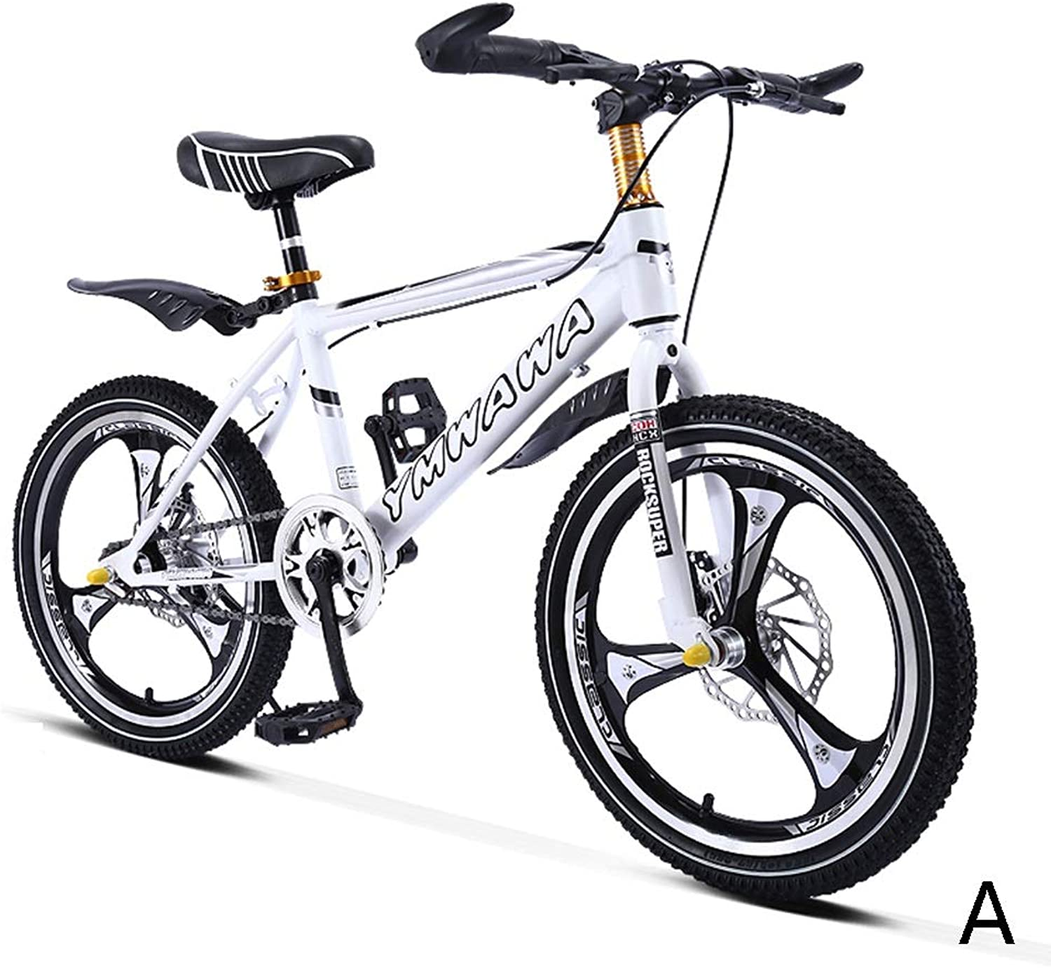 Kids' Bikes Bicycle Student Bicycle Single Speed Mountain Bike boy Bicycle Girl Bicycle 18 inch, one Wheel, high Carbon Steel Frame (color   A, Size   18inches)