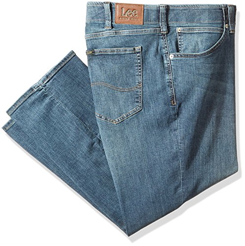 LEE Men's Big-Tall Modern Series Extreme Motion Relaxed Fit Jean, mega, 46W x 32L