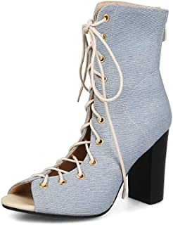 BalaMasa Womens ASL06323 Pu Block Heels