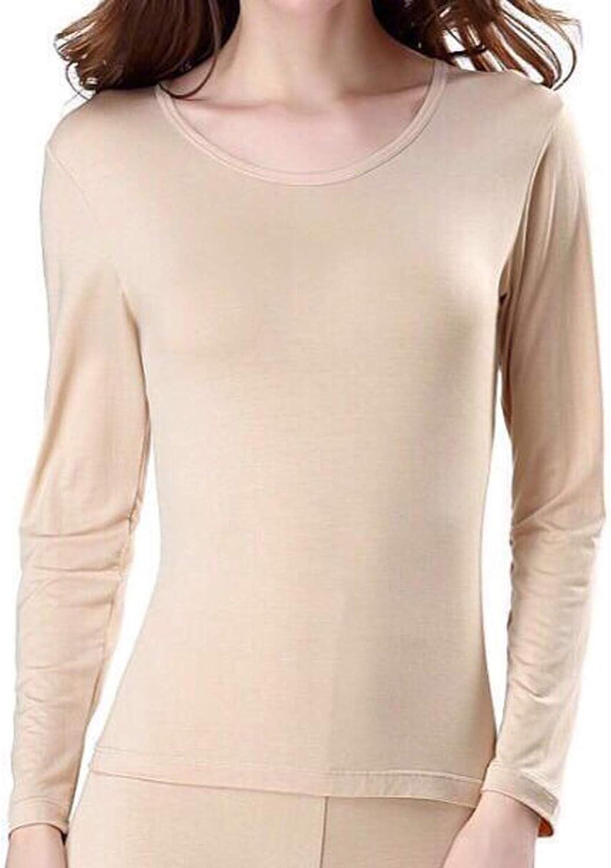 Mulaza Womens Thermal Tops Underwear Ultrathin Long Sleeve Shirt Base Layer Undershirt