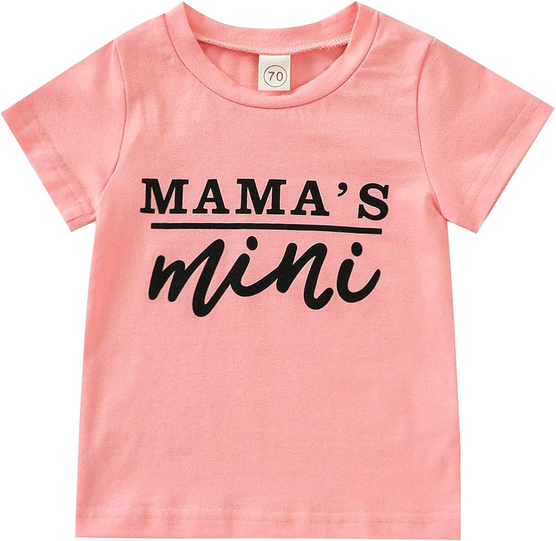 Mama's Bestie Baby Toddler Kids Girl Pink Arrow Letter T-Shirt Tee Tops Summer