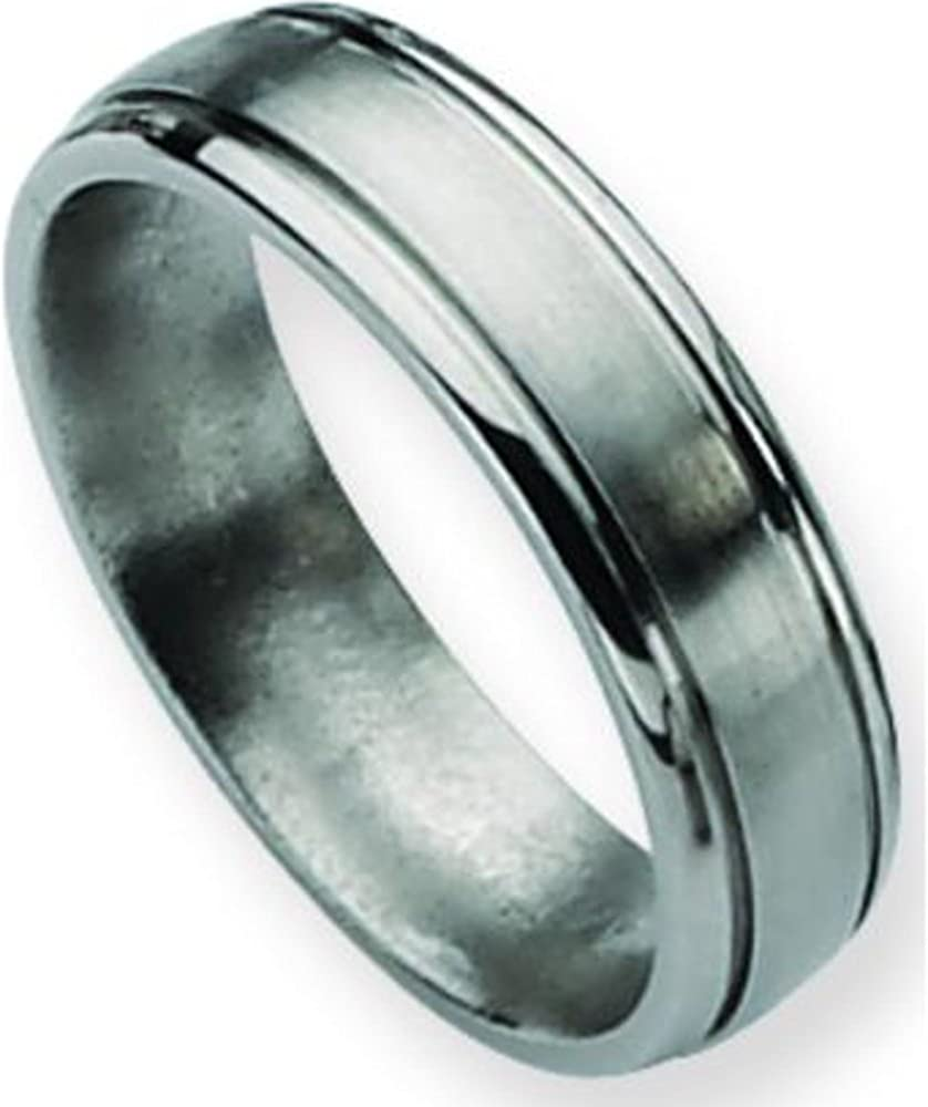 Titanium 6mm Brushed Mens Wedding Ring Now free shipping Band 11.5 Sz 2021 spring and summer new