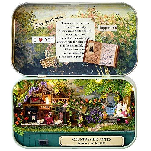 Miniatur-Puppen Kit DIY Miniatur-Holzpuppen Miniaturas Möbel Puppenhaus for Geburtstag-Geschenk Spielzeug Box Multicolor Optional (Farbe: B, Größe: Eine Größe) 8bayfa ( Color : A , Size : One Size )