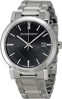 Swiss Silver Black Date Dial 38mm Unisex Men Women Stainless Steel Wrist Watch The City BU9001