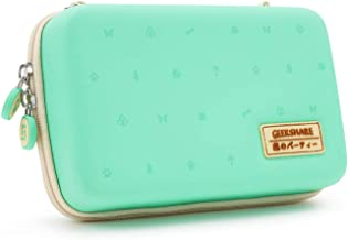 GeekShare Carry Case Compatible with Nintendo Switch, Animal Crossing: New Horizons Accessories with 12 Games Cartridges Hard Shell Travel Carrying Case for Nintendo Switch Console & Accessories