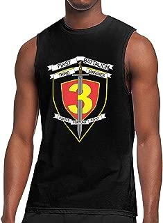 1st Battalion 3rd Marines Mens Round Collar Sleeveless Shirt Bodybuilding T-Shirt