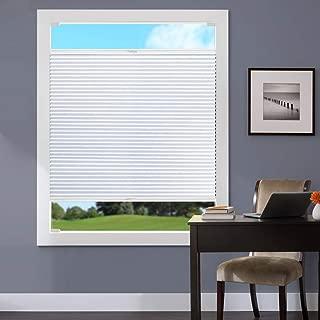 Keego Cordless Blackout Cellular Shades Custom Window Blinds, White, 34