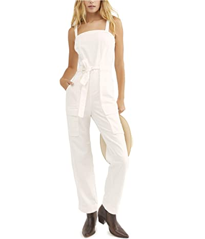 Free People Go West Utility Jumpsuit (White) Women