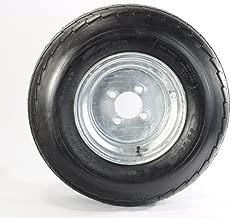 2-Pack Equipment Trailer Tire On Rim 20.5X8-10 205/65-10 20.5X8.0-10 10 in. 4Lug