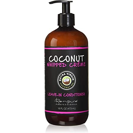RENPURE Coconut Whipped Creme Leave-In Conditioner, Basic, Fragrance, 16 Fl Oz