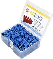 Q-Bricks Box 300Stck. Unicolor Bausteine in 5 Standardformaten: 2X4, 1X4, 2X2, 1X2 e 1X1 Noppen, Himmelblau 663