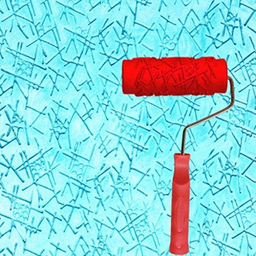 Rodillo relieve con dibujos para pintar paredes Rodillo estampador, Líquido fondo de pantalla Arte pintura de la pared de impresión de la diatomea textura de barro pintura del arte del Instrumento de