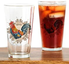 CafePress Vintage Rooster, French Advertising Pint Glass, 16 oz. Drinking Glass