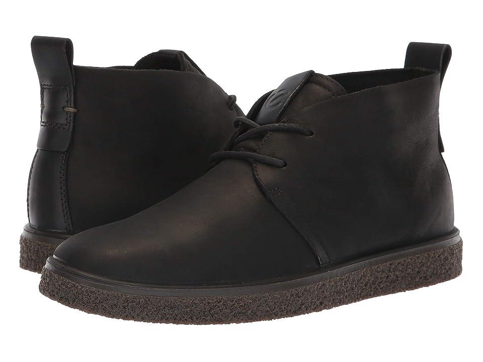 ECCO Crepetray Bootie (Black Nubuck Leather) Women