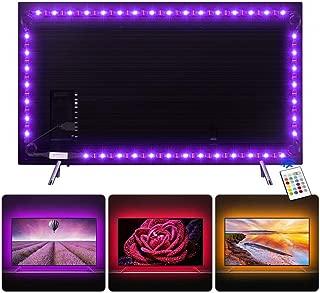 Tira LED 2.2 m, Tiray Ledy Tiras LED Impermeable Tira de LED Retroiluminación LED de TV USB Tira De Luz con Control Remoto de 24 Botones para TV (40 a 65 pulgadas, HDTV) y Monitor de PC