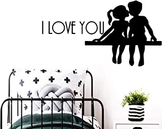 DIY I Love You Wall Sticker Removable Wall Stickers DIY Wallpaper for Kids Rooms Decoration Accessories Murals 43x78cm MRQXDP adesivo de Parede murales La pegatina