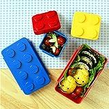 Apilable caja de almuerzo Bento Box recipiente para ensalada diseño de bloque de Oxford de caja para niños Kids familia Picnic viaje