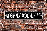 No Branded Plaque en métal pour comptable gouvernemental, comptable gouvernemental, comptable, comptable, plaque de rue personnalisée, cadeau, décoration murale