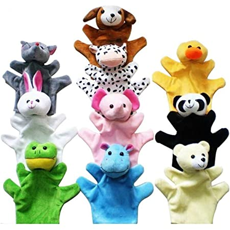 Morning May Marionnettes à main – Marionnettes à main en forme d'animal mignon pour enfants, lot de 10