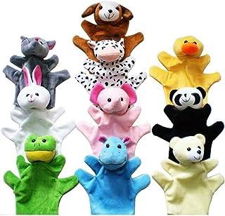 Morning May - Marionetas de mano, diseño de animales, juego de 10
