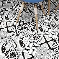 家の装飾のための5個/セットの台所のタイルのステッカータイルのステッカー自己粘着性の装飾的な壁のタイルのステッカー黒と白の家の台所の装飾家具の装飾、20cm * 100cm
