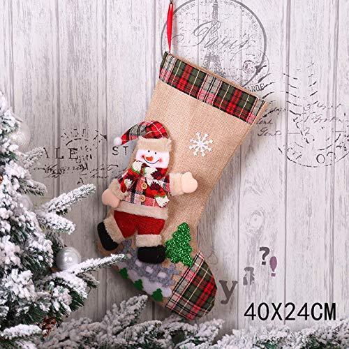 niawmwdt kerstkous geschenkzakjes kerstversiering voor het eigen jaar geschenktasje sokken natal boomversiering presents-in Stockings; cadeauhouder van thuis uit; tuin