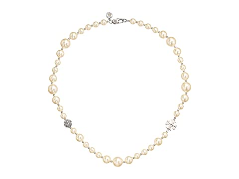Pearl Crystal Short Necklace by Tory Burch