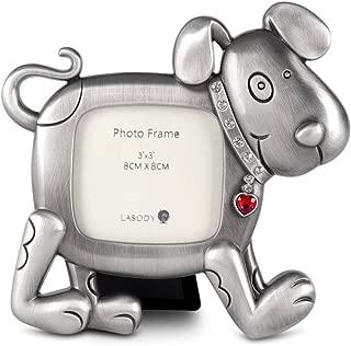 LASODY Pewter Dog PET Photo Frame