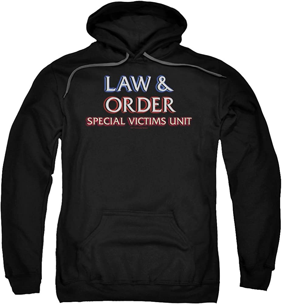 Trevco Law and Order SVU Logo Adult for Pull-Over 送料無料 激安 お買い得 キ゛フト Unisex 大幅値下げランキング Hoodie