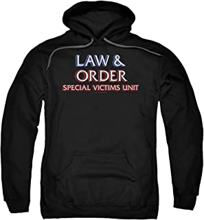 Law & Order SVU Crime Legal Drama TV Series NBC Logo Adult Pull-Over Hoodie
