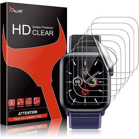 TAURI 6 Pack Protector de Pantalla para Apple Watch 40mm Series 6 5/4/SE y Apple Watch Series 3/2/1 38mm, sin Burbujas Funda Compatible Instalación Fácil HD Transparente TPU Film Protector