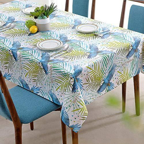 Traann tafelzeil tafelkleed, Square Wipe Clean tafelkleed Rechthoekig Waterdicht Vinyl PVC Tafelkleed voor Tuin Keuken Buiten of Binnen 140*220